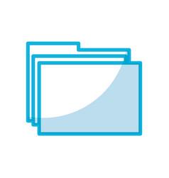 Shadow folder cartoon vector