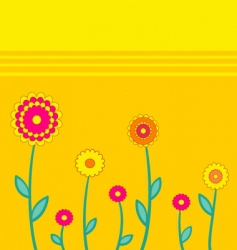 simple background with flowers vector image