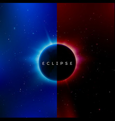 solar eclipse astronomy effect - sun eclipse vector image