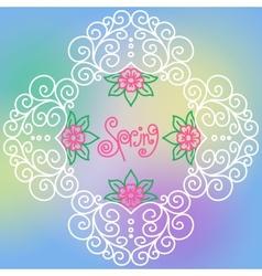 Spring pattern of spirals swirls chains vector