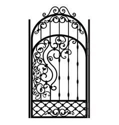 Steel railing panels that include balls flowers vector