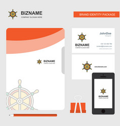 steering business logo file cover visiting card vector image