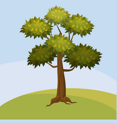 tree cartoon style isolated for games and vector image