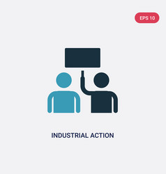 two color industrial action icon from user vector image