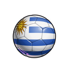 Uruguayan flag football - soccer ball vector