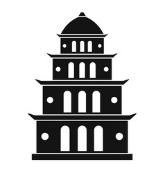 Vietnam temple icon simple style vector