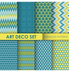 Vintage Art Deco Background Set vector