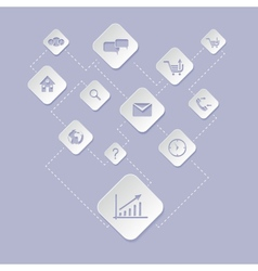 Web application for business e commerce icon set vector image