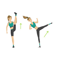 woman fitness girl doing sport physical vector image