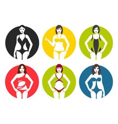 Women in swimsuit vector image