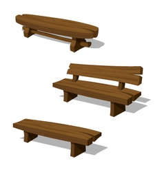 Wooden benches vector