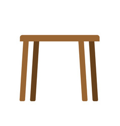 wooden table empty isolated furniture on white vector image