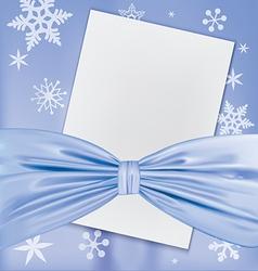 Christmas blank white paper vector image