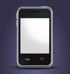 mobile phone lit up vector image vector image