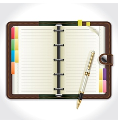 Personal Organizer with Pen vector image