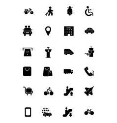 Travel Solid Icons 4 vector image