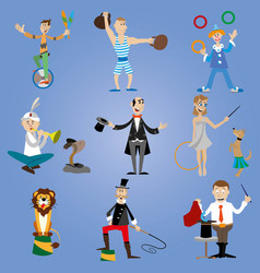 A set of circus performers vector
