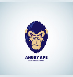 angry ape abstract sign emblem or logo vector image