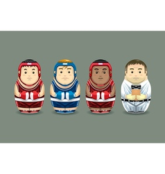 Olympic Boxing Russian Dolls vector image vector image