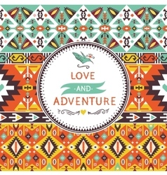 Seamless bright pattern in navajo style vector image
