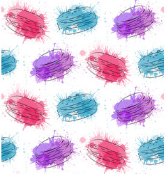 seamless texture with contour drawing of macaroon vector image