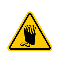 attention french fries dangers of yellow road vector image