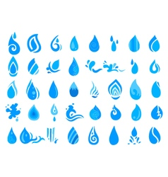 collection of water icon vector image