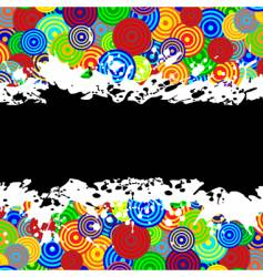 grunge boarder vector image vector image