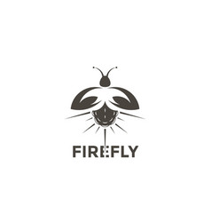 logo firefly on a white background vector image vector image