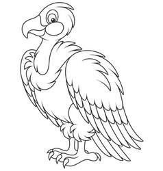 White headed vulture vector