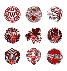 Wine labels and badges - templates for design vector image vector image