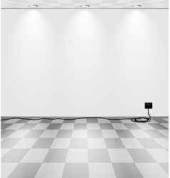 Grey room with cord vector image