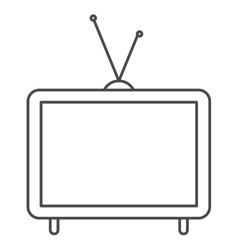 Isolated retro tv design vector