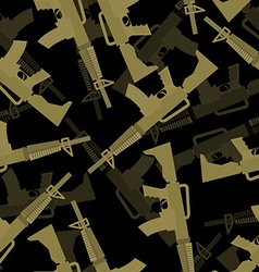 Military M16 rifle seamless pattern 3d background vector image