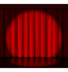 Spotlight on stage curtain vector image vector image