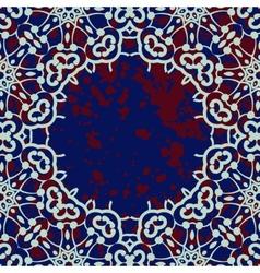 Stylized islamic ornamental frame over deep blue vector image