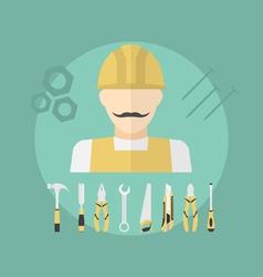 working man vector image vector image