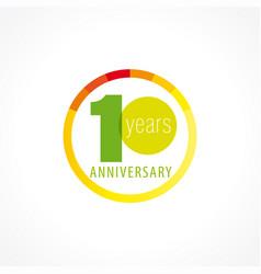 10 anniversary circle logo gi vector
