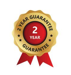 2 year guarantee badge guarantee certificate vector