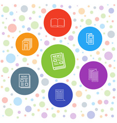 7 publication icons vector