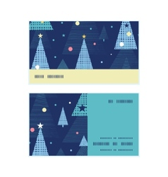 Abstract holiday christmas trees horizontal stripe vector