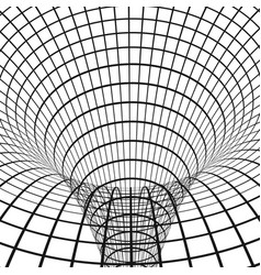 abstract wormhole digital portal though time vector image