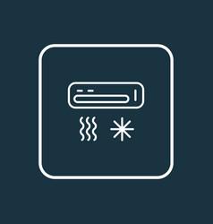 air condition icon line symbol premium quality vector image