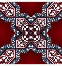 Arabic Floral Mosaic Seamless Pattern vector