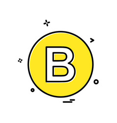 b icon design vector image