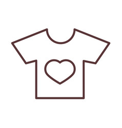 balittle shirt with heart clothes garments for vector image