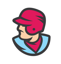 baseball player sign vector image
