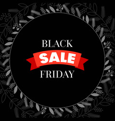 black friday sale with frame vector image