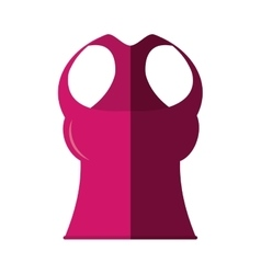 Blouse female fitness isolated icon vector