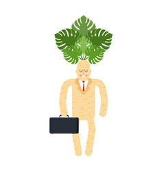 boss mandrake root tie and case magic businessman vector image